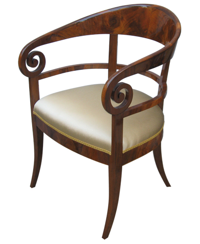Biedermeier Replica Sidechair Front360